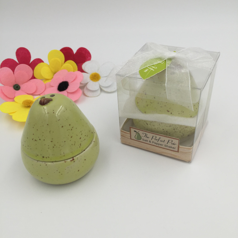 The Perfect Pair Pear Shape Salt And Pepper Shakers Wedding Favors
