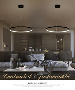 Image 5 - 60 Cm 80 Cm 100 Cm Moderne Hanger Verlichting Voor Woonkamer Eetkamer Cirkel Ringen Acryl Aluminium Body Led plafond Lamp Armaturen