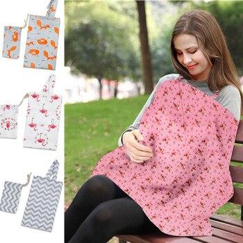 цена на Breastfeeding Cover Baby Infant Breathable Cotton Muslin nursing cloth L large size big Nursing Cover feeding cover 60*110cm