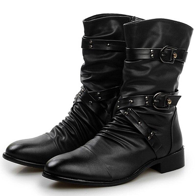 Pointu Tendance Martin Combat Han Hommes De noir Dr Cotton Chaussures Black Moto Édition Doux Bottes Noir qY0fS
