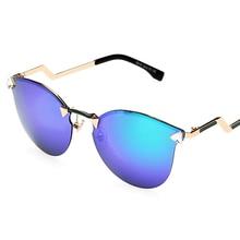 Free shipping Hot 2015 New Fashion Womens Brand Luxury Versae Medusa Sunglasses oculos Men Oversized Rimless Cat Eye Sun Glasses