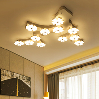 Creative Personality Ceiling Lighting Post Modern Minimalist Living Room Fixtures Bedroom Lamps Plum LED Aisle Ceiling