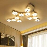 Creative Personality Ceiling Lighting Post Modern Minimalist Living Room Fixtures Bedroom Lamps Plum LED Aisle Ceiling