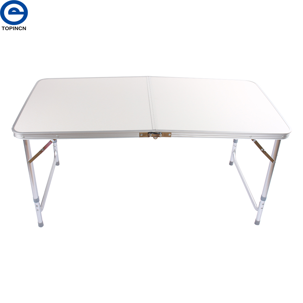 Portable aluminum folding outdoor camping table ultralight - Camping table adjustable height ...