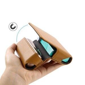 Image 2 - Funda de cuero tipo billetera con tapa a la moda para IQOS 3,0 bolsa soporte caja funda para IQOS 3 funda, soporte