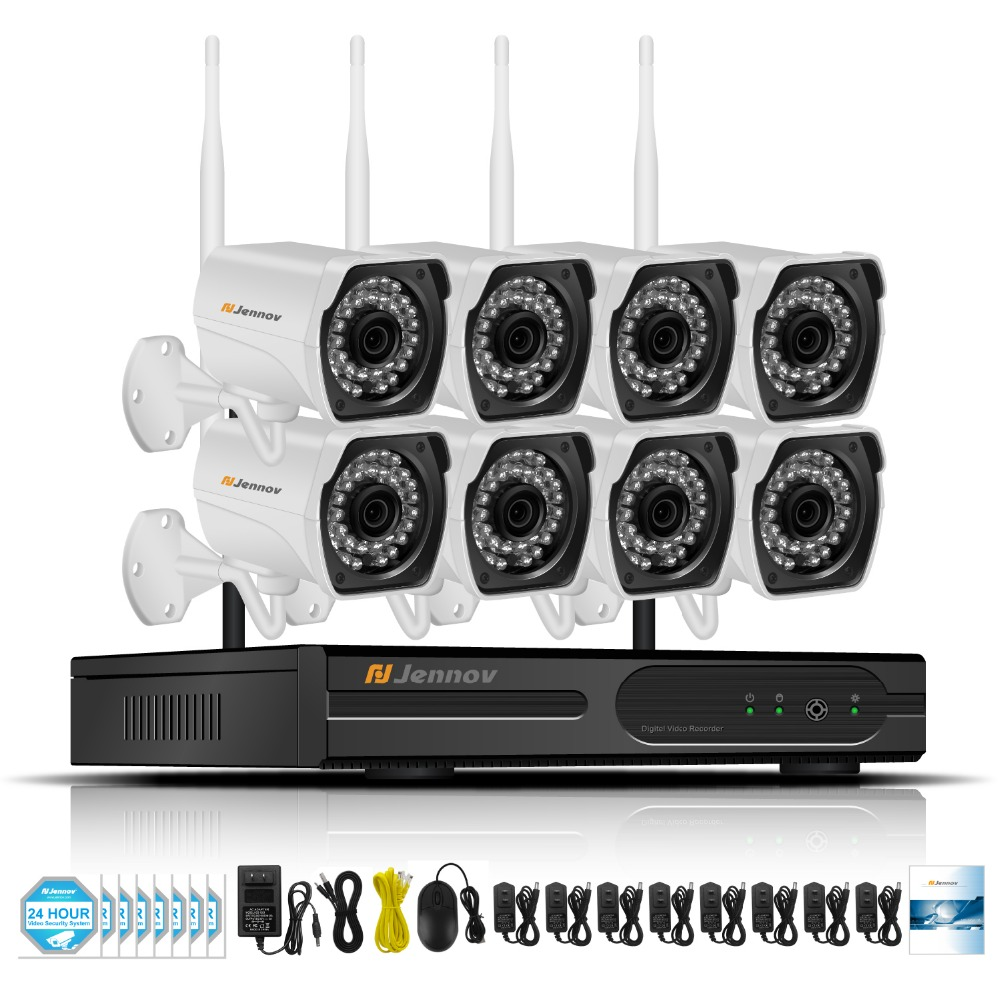 8CH CCTV Kit 960P Home Wireless CCTV Security Camera System With NVR HD Wifi Video Outdoor Surveillance Kit APP Remote View 8ch cctv kit 960p home wireless cctv security camera system with nvr hd wifi video outdoor surveillance kit app remote view