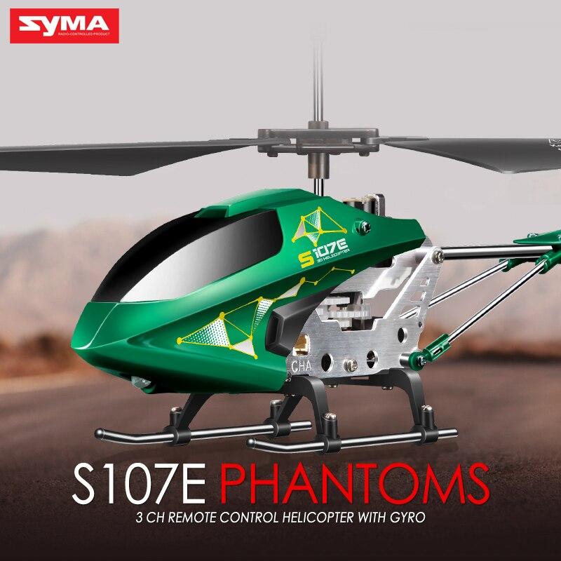 SYMA S107E Electric 3CH Gyro font b RC b font Quadcopter High Quality Colorful Flashing Lights
