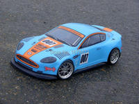 S048 BLUE ASTON MARTIN 1 10 1 10 PVC Painted Body Shell For 1 10 RC