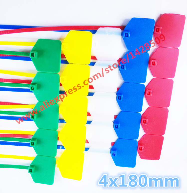free ship 100pcs sign cable tie/ Plastic cable tie/ tag tied /mark tie 4*180mm Factory direct sale