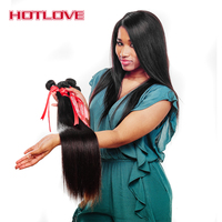 HOTLOVE Hair Malaysian Hair Straight Human Hair Weave Bundles 1 Piece Only Natural Color Remy Hair