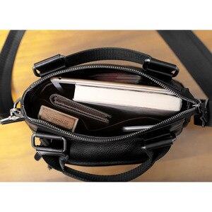 Image 5 - AETOO حقيبة يد صغيرة للرجال جلد عمودي الأعمال عادية الكتف قطري عبر الجسم حقيبة رجالية جلدية