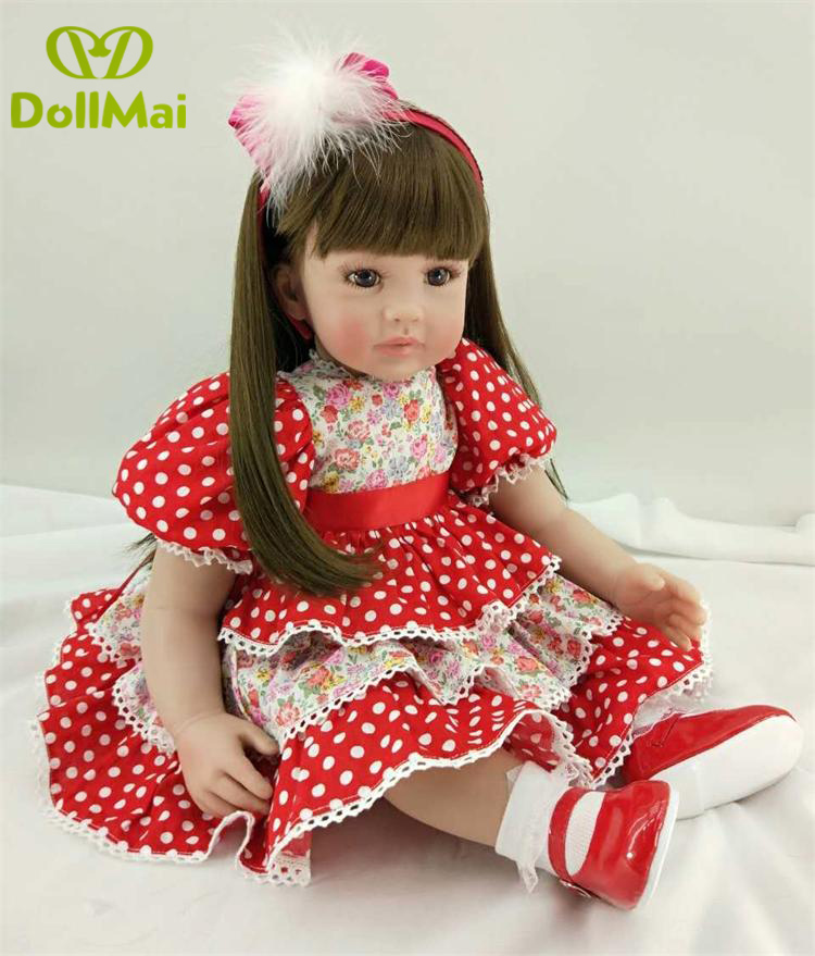 60cm Silicone Reborn Girl Baby Doll Toys Lifelike 24inch Vinyl Princess Toddler Babies adorable Dolls Birthday gift Reborn60cm Silicone Reborn Girl Baby Doll Toys Lifelike 24inch Vinyl Princess Toddler Babies adorable Dolls Birthday gift Reborn