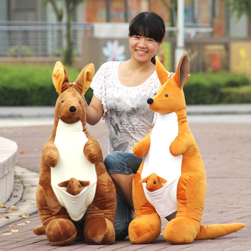 BOLAFYNIA High Simulation Doll Plush Toys Kangaroo Birthday Gift Valentines Day Activities