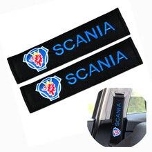 Estilo de coche Auto hombreras funda para coche SCANIA emblema accesorios coche-estilismo pegatina SCANIA cubierta de cinturón de seguridad de coche