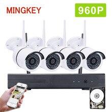 Mingkey 4CH 960P Wireless Security Camera System 1.3MP Wifi CCTV Kit Home Surveillance NVR Kit 960P IP Camera IR Outdoor HDD