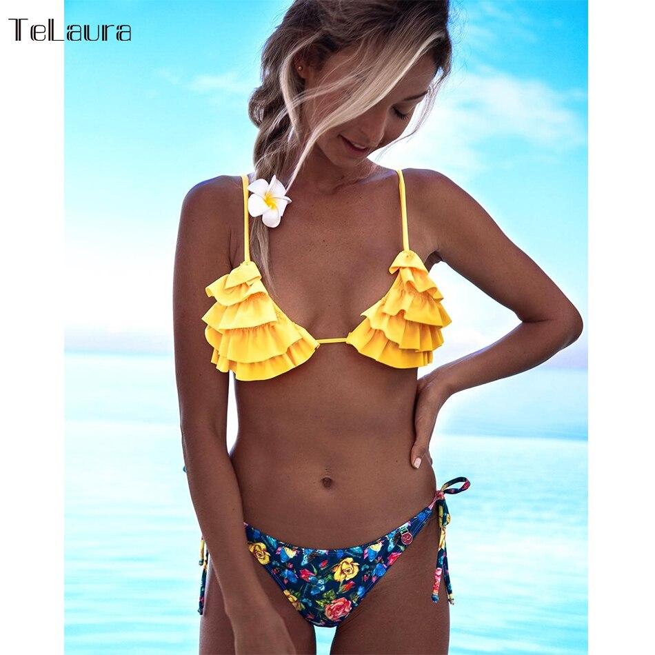 2018 New Sexy Bikini Swimwear Women Swimsuit Push Up Ruffle Bikinis Women Bathing Suit Biquini Brazilian Bikini Summer Beachwear2018 New Sexy Bikini Swimwear Women Swimsuit Push Up Ruffle Bikinis Women Bathing Suit Biquini Brazilian Bikini Summer Beachwear