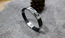 [FCY] titanium steel mens wire hollow stainless silicone fashion explosions gift hot bracelet