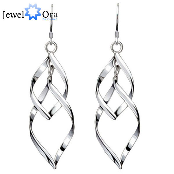 925 Sterling Silver Party Drop Earrings Fashion Jewelry Long For Women Best Gift Jewelora Ea101569
