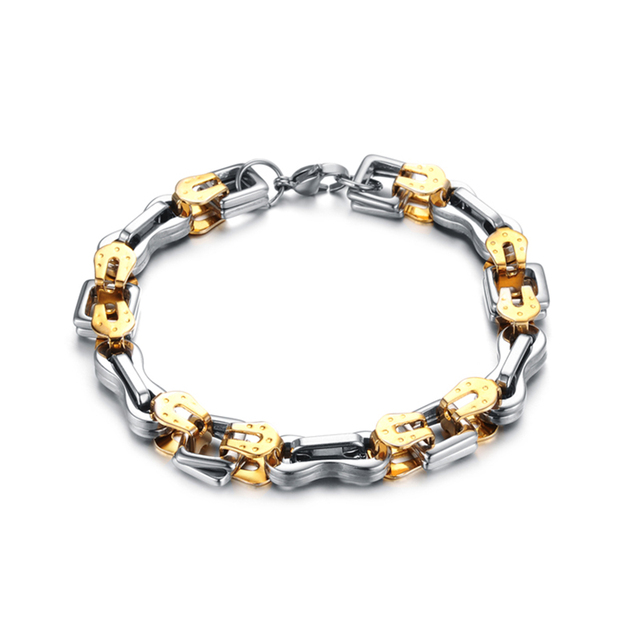 Men s Silver Plated Nomination Bracelet Wild Clothing Summer Jewelry  Titanium Steel Nomination Bracelet New Brand Famous 10 06a2a5471506