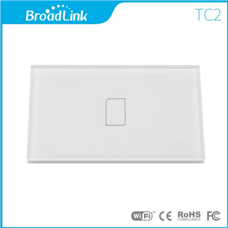 Nuovo US / AU Broadlink standard TC2 Wireless 1 Gang Wifi Interruttore luce a parete Telecomando Interruttore touch screen Smart Home Automation