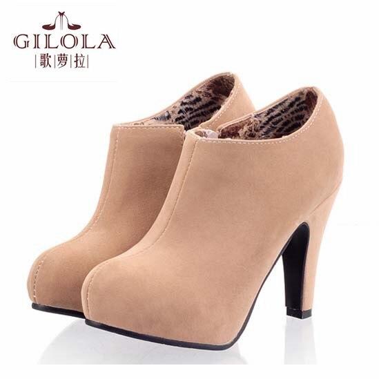 Boyutu 34-43 yeni 2016 ayak bileği yüksek topuklu seksi kar kadın çizmeler sonbahar kadın çizmeler kış ayakkabı kadın en # Y3207316F