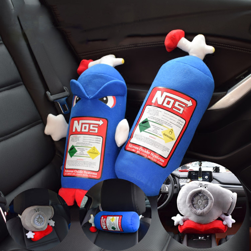 2017 Real Car Seat Cover Seat 1pcs Auto Supplies Hold Pillow Nos Nitrogen Accelerate The Bottle/head/neck Pillow/waist Cushion