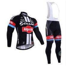 2017 neue giants fahrrad warme winterkleidung pullover langärmelige kleidung marke Sportwear heißer Flleece Mtb Bike