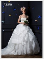 Free Shipping 2013 Kate Middleton Design Custom Size Color Lace Up Bridal Gown Small Train Marry