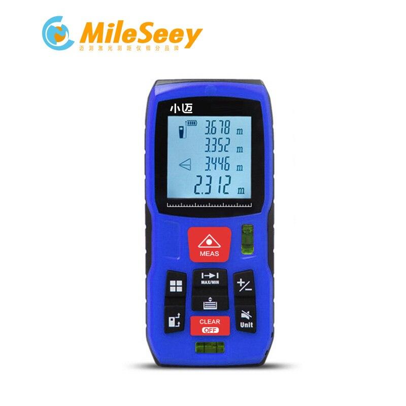 Mileseey Mini laser Mètre de distance laser Ruban à mesurer 2 Niveaux À Bulle Diastimeter outil Laser Télémètre Distance