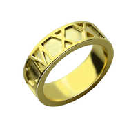 Wholesale Roman Numerals Ring Personalized Date Ring Gold Color Wedding Roman Numerals Band Anniversary Gift