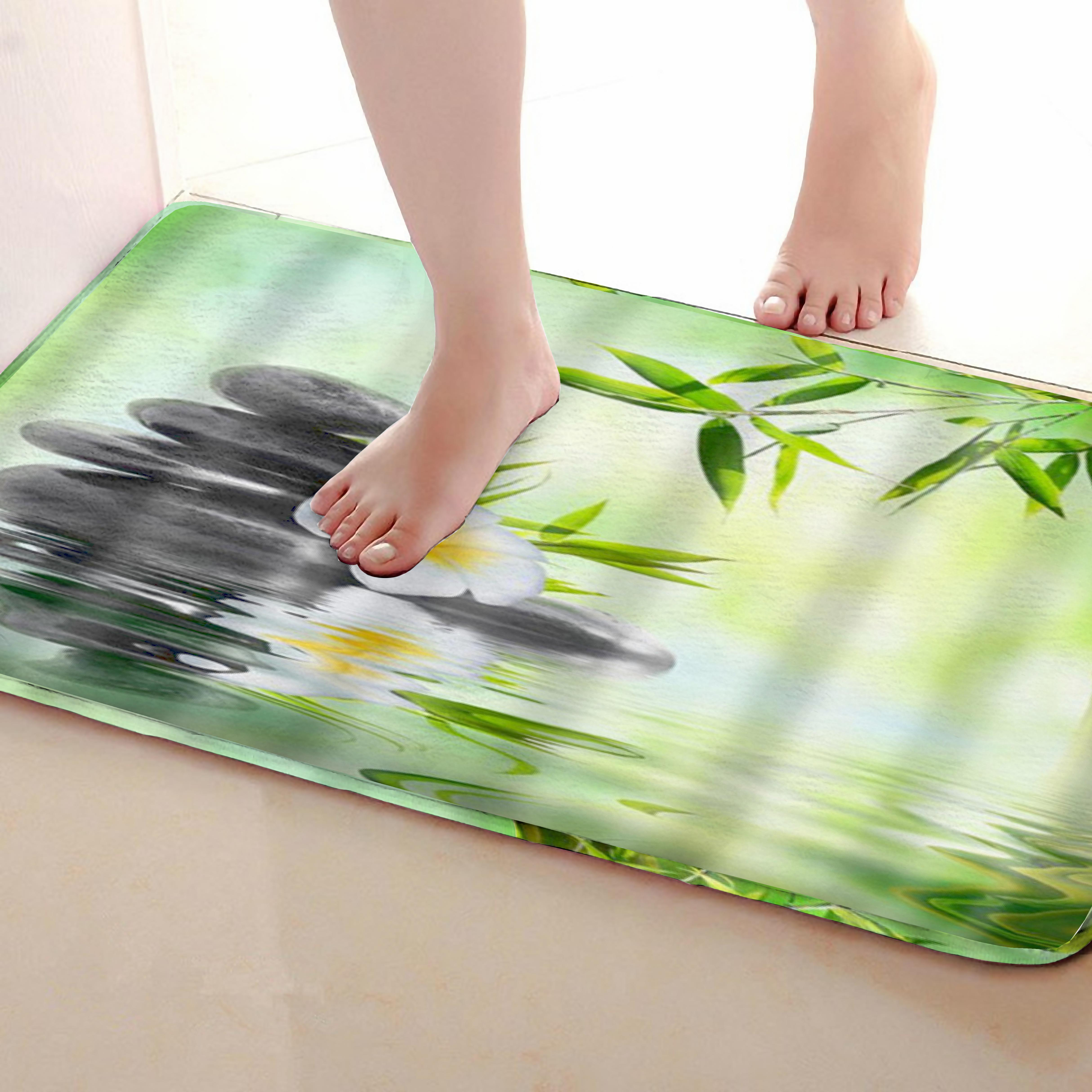 Stone Style Bathroom Mat,Funny Anti skid Bath Mat,Shower Curtains Accessories,Matching Your Shower Curtain