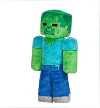 New arrival Kids Toys Minecraft Toys MC Zombie Steve Plush Toys Creeper Doll 22-34CM Plush Dolls Best Christmas Gifts For Baby