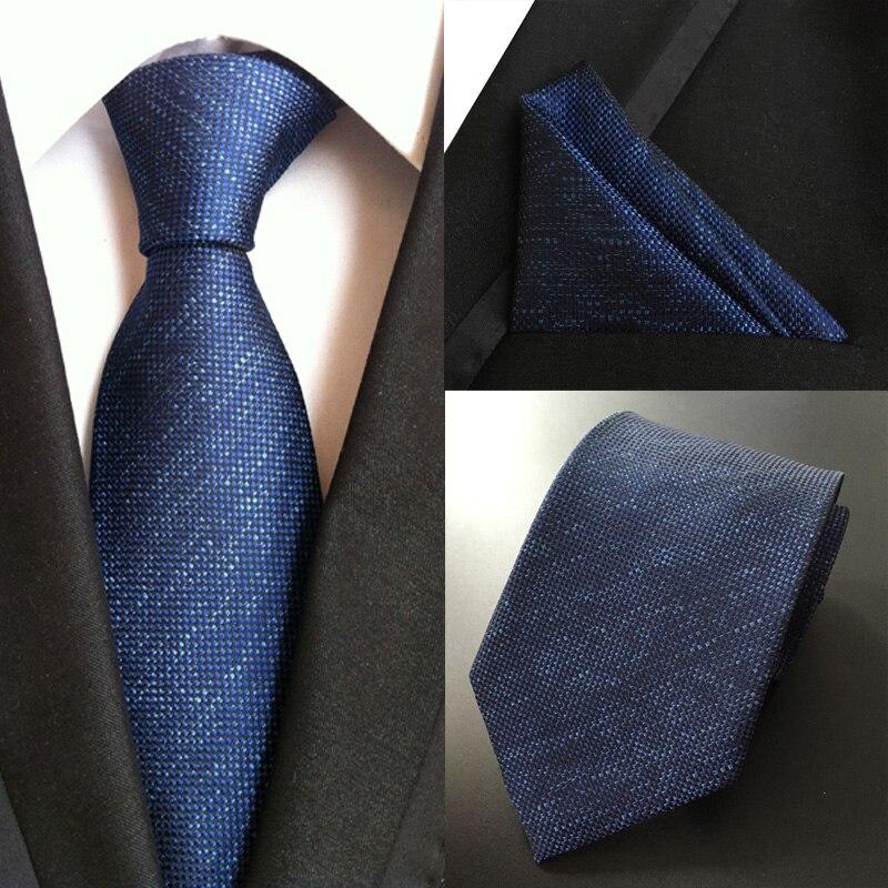 a9729a5dac1c Hot Klassischen Männer 100% Silk Geschäft Hochzeit Krawatte Set Jacquard  Gewebt Blau Krawatten Taschentuch Sets Einstecktuch Krawatte Einstecktuch  Anzug