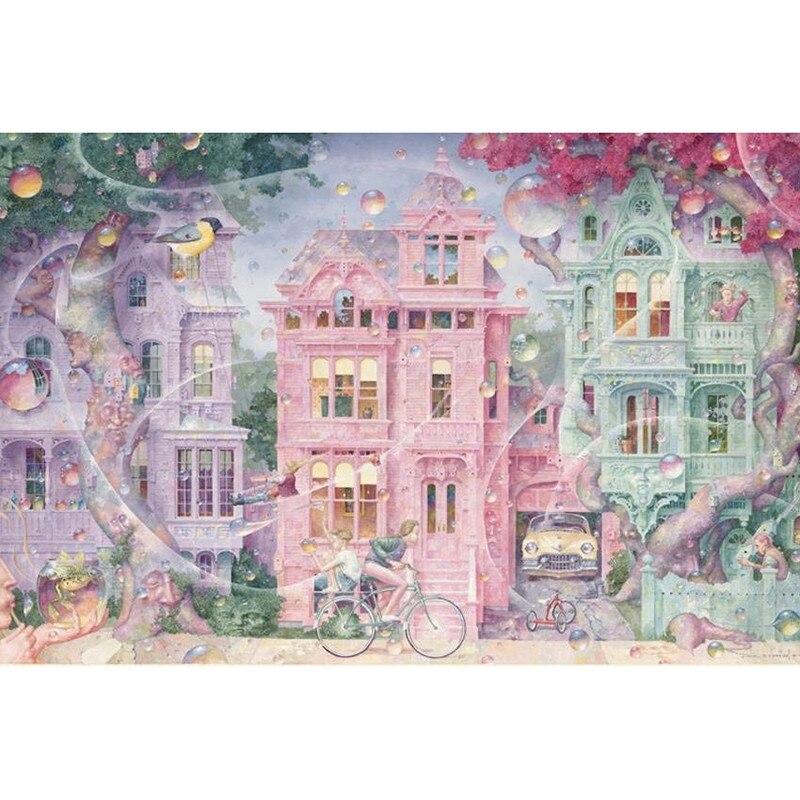 Full square/Round drill Diamond embroidery Pink cottage 5D DIY diamond Painting Cross Stitch Rhinestone Mosaic decor HYY