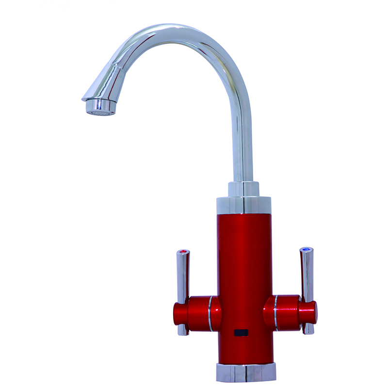 Instand Water Heater Duel Handle Robinet Chauffe Eau With LCD Temperature Instant Hot Water Faucet Water Heating Tap S2D