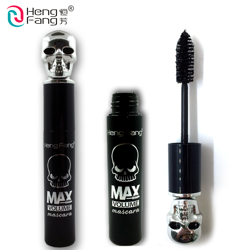 Skull Shape Lengthening Mascara Curling Thick Mascara Maximum 14g 2016 New Arrival Eyes Makeup Brand HengFang #H6190