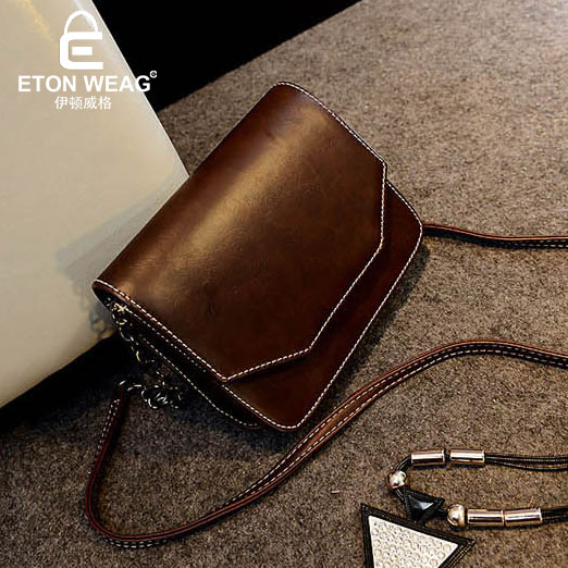 ETONWEAG Famous Brands Cow Leather Bags Women Messenger Bags Brown Vintage Crossbody Shoulder Bag Preppy Small Woman Bag 2018 etonweag famous brands 12 pcs dozen messenger bag men leather brown cover shoulder bags preppy style designer crossbody bag