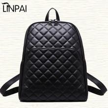 2017 Vintage New Style High Quality Leather School Bags Shoulder Bag Famous Designer Brand Backpack  Plaid Women Bag