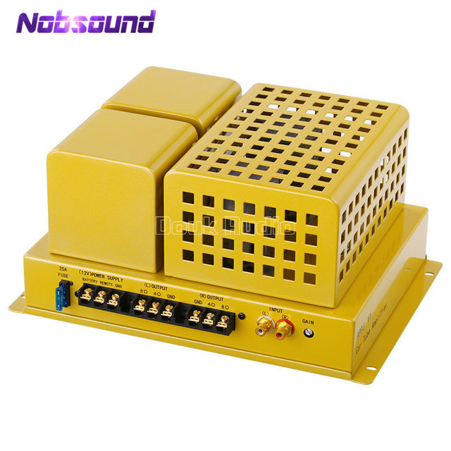 Special Offers 2018 Latest Nobsound FU50 Vacuum Tube Vehicle/Car/RV/Home Power Amplifier Stereo Hi-Fi Power Amp 12-Watt Vehicle