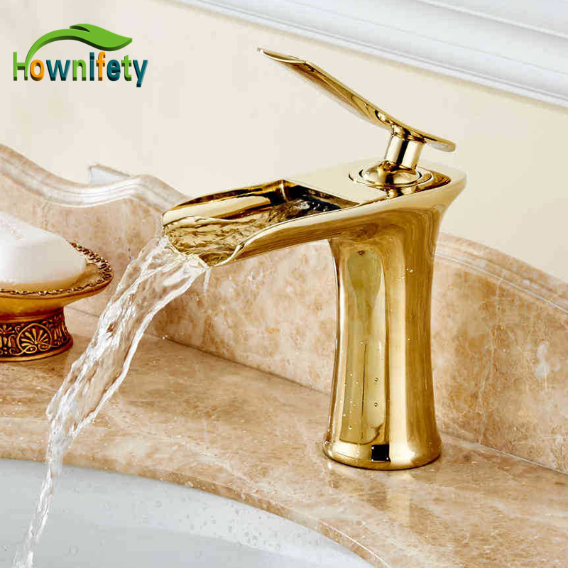 Luxury Brass Gold Finish Basin Faucet Bath Vanity Sink Tap Deck Mount One Hole Mixer Tap декор lord vanity quinta mirabilia grigio 20x56
