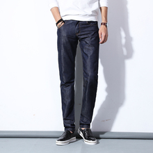 Mens Blue Jeans Elastic 2017 Summer New Fashion Casual Business Male Cowboy Trousers Best Popular Men Pants Cheap Popular Hot 36