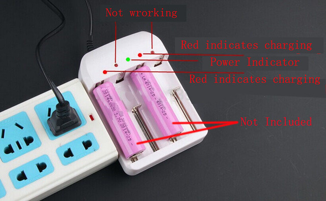 Battery Charger for 18650 26650 14500 10440 AA AAA etc Auto Off 4.2V 3.6V Li-ion Battery Charger 1.5V 1.2V EU Plug