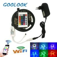 20M 15M 10M 5M 2835 RGB LED Strip Diode Tape Light DC12V SMD With RGB LED