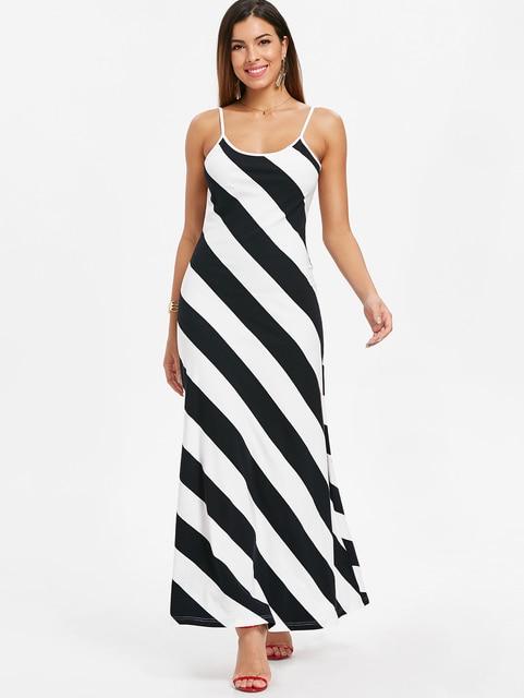 bc15e71039f Kenancy Striped Open Back Maxi Dress-in Dresses from Women s ...