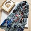 Марка Женской Моде Высокое Качество Австралийский Кашемир Шарф Высокое качество Дизайнер Зимний Шарф Плед Шарф