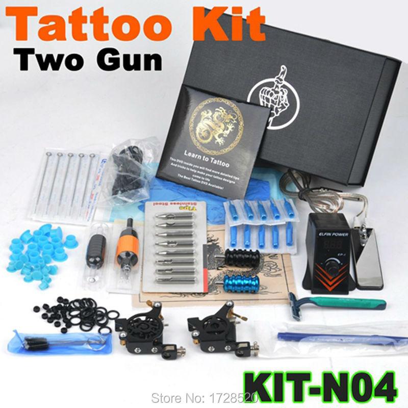 New Arrival 1 set Tattoo Kit Power Supply Gun Color Inks Complete Set Equipment Machine Wholesale 2015 цена и фото