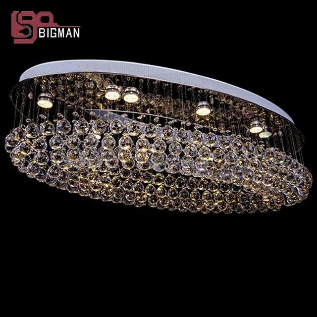 Neue Oval Design Große Moderne Kristall Kronleuchter Lampe Deckenleuchten  Hotel Projekt Beleuchtung Kostenloser Versand