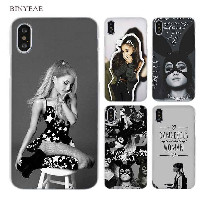 c8fabd9f5 BINYEAE Ariana Grande Cat Girl Clear Cell Phone Case Cover for Apple iPhone  X 6 6s 7 8 Plus 4 4s 5 5s SE 5c