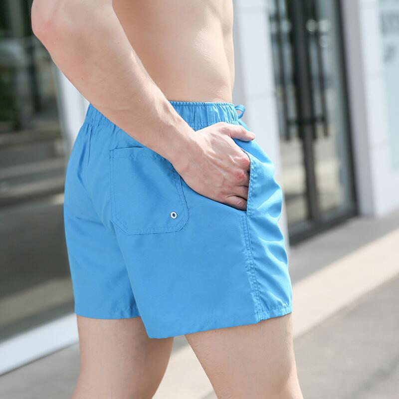 Swimming Trunks Men Beach 2019 Plus Size Swimwear Men Solid Quick Dry Shorts Gay Boxer Surf Board Beach Wear 14 colors(China)