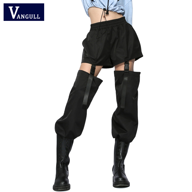 Vangull Streetwear Patchwork Women   Pants   2019 New High Waist Summer Sweatpants Casual Ladies Trousers Korean   Pants     Capris     Pants